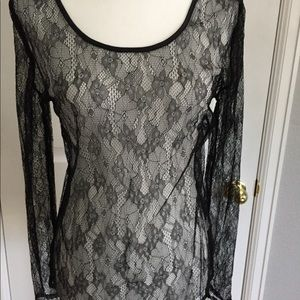 NWT Sexy See-through Lace Top